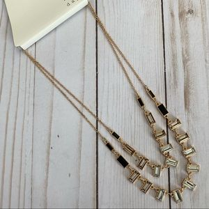 4/$20 A New Day Black & Gold 2 Strand Necklace